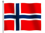 flag of norway waving poster