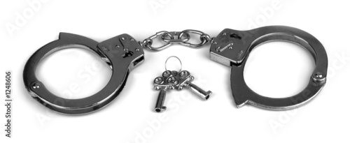 handcuffs on white