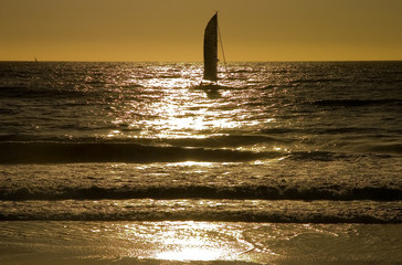 sailboat sunset 2