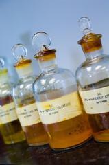 bottled laboratory chemicals