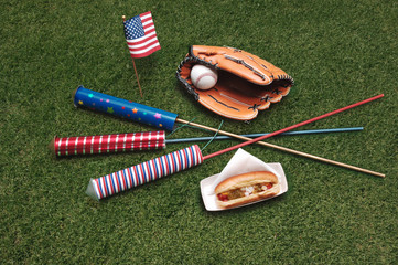 4th of july on the grass