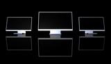 triple monitor setup - schwarz 1 poster