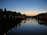 sunset in florence poster