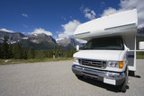 motorhome front view and wide angle poster