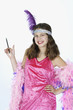 preteen girl dressed in halloween costume