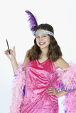 preteen girl dressed in halloween costume poster
