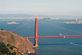 golden gate from marin headlands, san francisco poster