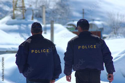 police patrol in winter