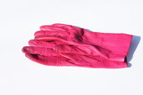 pink leather gloves poster