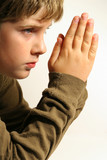 praying hands child poster