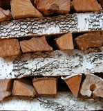 firewood background poster