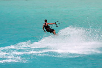 kite surf with splash