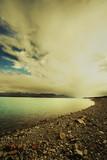 overcast lake tekapo poster