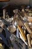 old spoons, forks, knifes poster