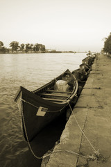 boats on the river side