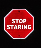 stop staring poster