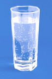 glass with mineral water poster