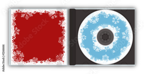 christmas cd jewel case snowflakes design