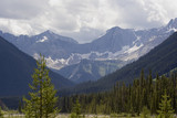 panorama of the kootenay national park before a thunderstorm poster