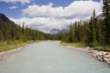 panorama of a river with glacial water poster