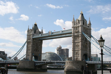 tower bridge and city hall, london