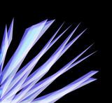3d crystals poster