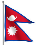 flag of nepal waving poster