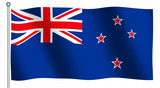 flag of new zealand waving poster
