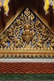 thai temple entrance. plenty of copy space poster