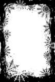 grunge snowflakes frame poster