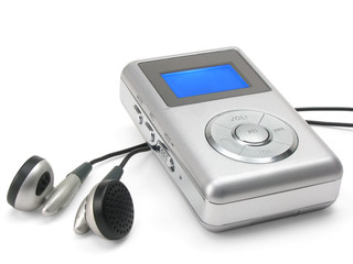 mp3 player with clipping path