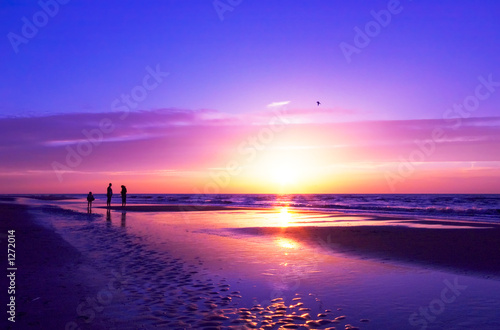 canvas print picture sunset on the beach