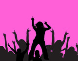 dancing at a party poster