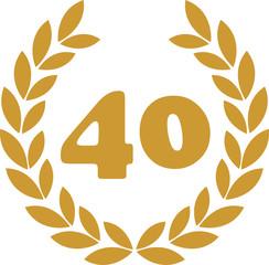 lorbeerkranz 40