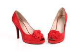 romantic red shoes poster