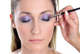 violet look-step 2-eye shadow poster