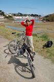 cycliste de belle île poster