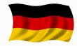 Leinwanddruck Bild - deutschland fahne
