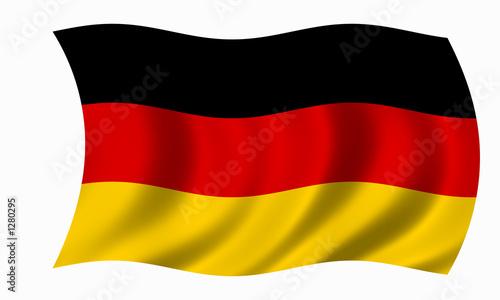 Leinwanddruck Bild deutschland fahne