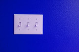 light switch blue poster