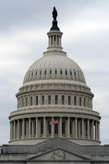 united states capital building with flag