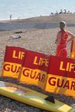 seaside lifeguard poster