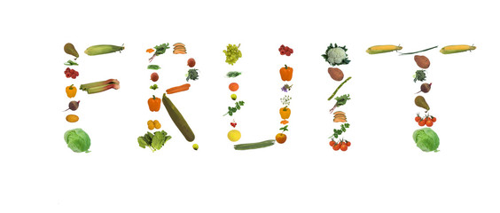fresh fruit and veg spells fruit