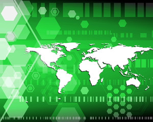 hex world green
