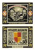 stadt ahaus 50 pfennig banknote poster