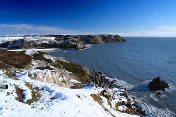 snow at the coast