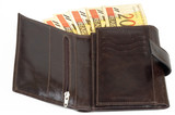 leather wallet poster