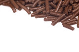 chocolate sprinkles on white background poster