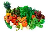 vegetables and fruits arrangement  2 poster