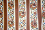 antique wallpaper with a floral pattern